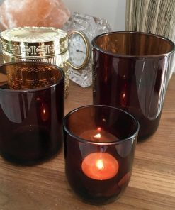 Contemporary modern candle glass jar