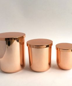 Fifth Avenue Rose Gold, Candle Glass with steel lid