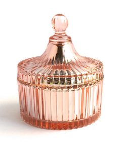 Ribbed Carousel Rose Gold, Candle Glass, Candle Making Supplies